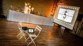 vidéoprojecteur dans un mariage