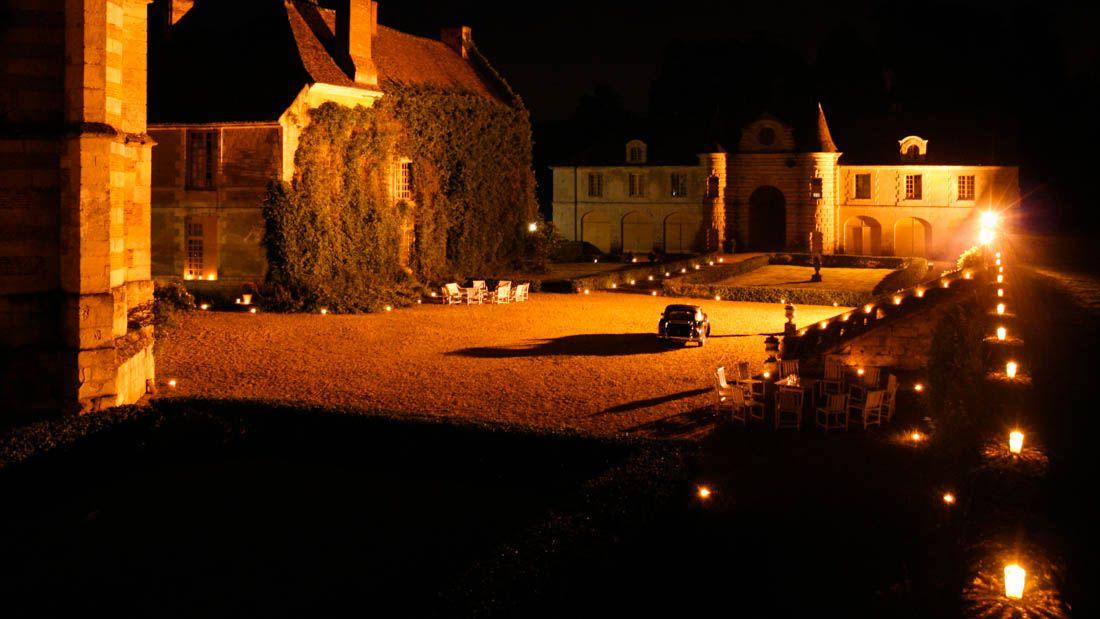 Bougies pour un mariage au Château d'Alincourt