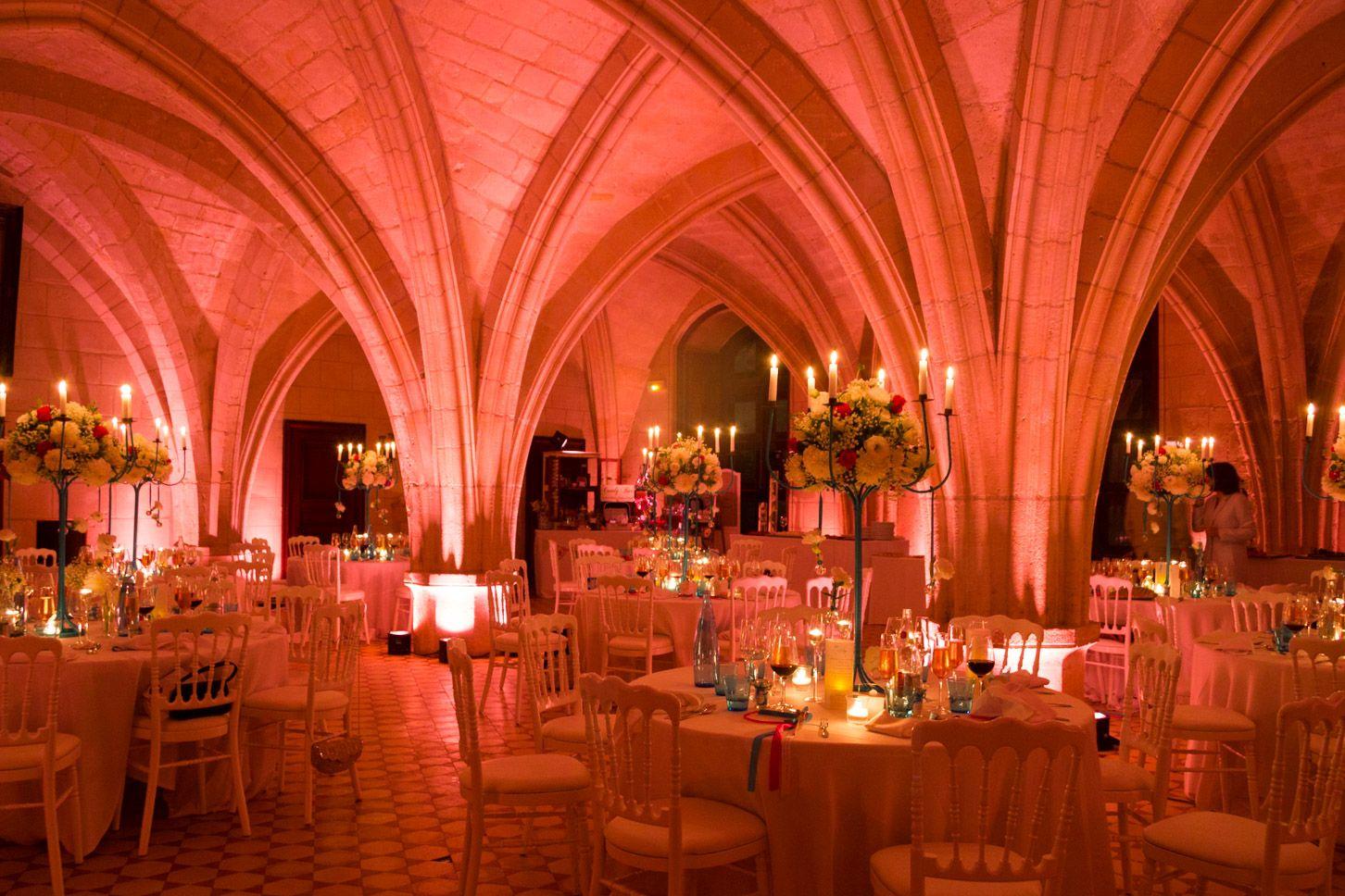 Eclairage mariage à l'Abbaye de Longpont