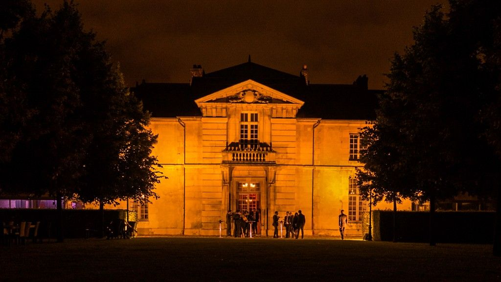 Eclairage de la façade de l'École Militaire