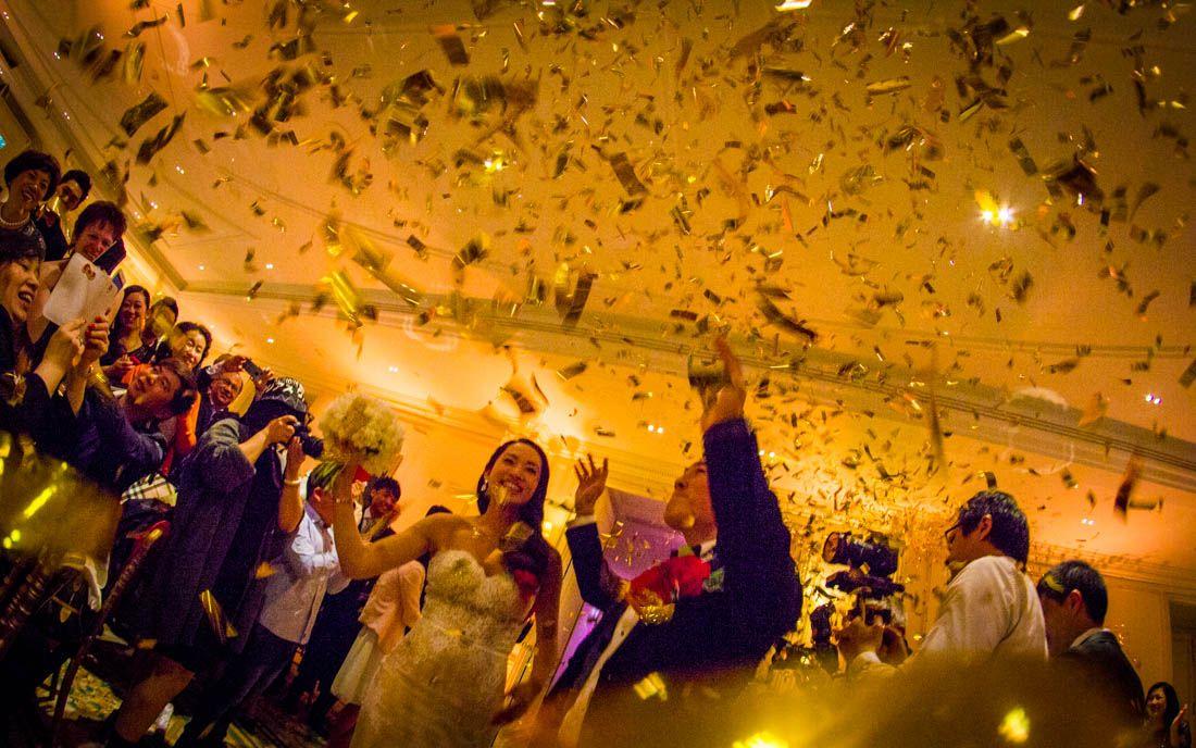 Entrée des mariés à l'Intercontinental Paris