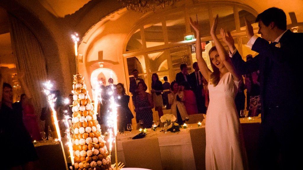Pièce montée de mariage au Precatelan
