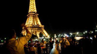 Mariés au Bateau Louisiane Belle à Paris