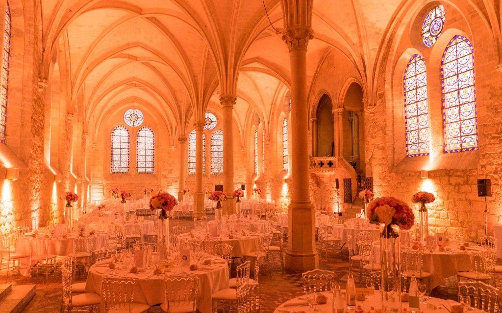 Refectoire des moines lors d'un mariage Abbaye de Royaumont