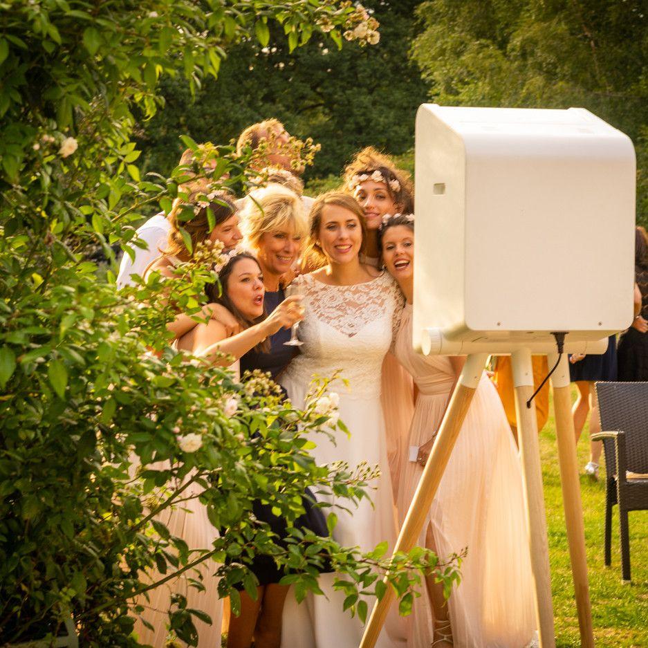 Photobooth pour un cocktail de mariage