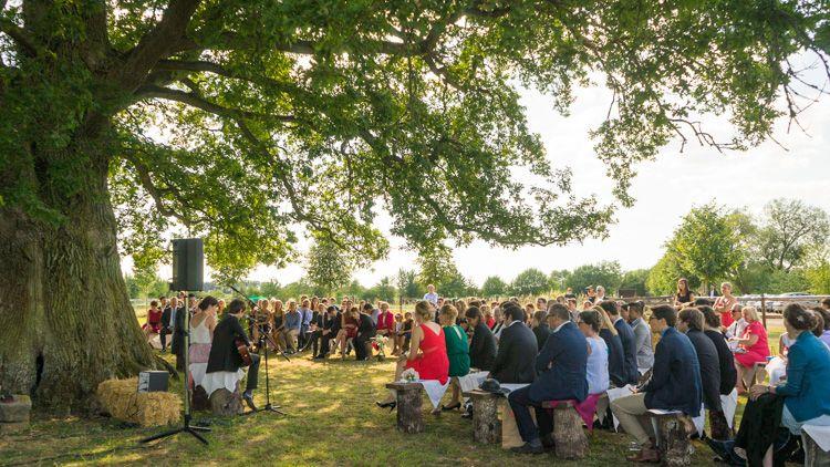 Cérémonie Laïque en extérieur sous un arbre