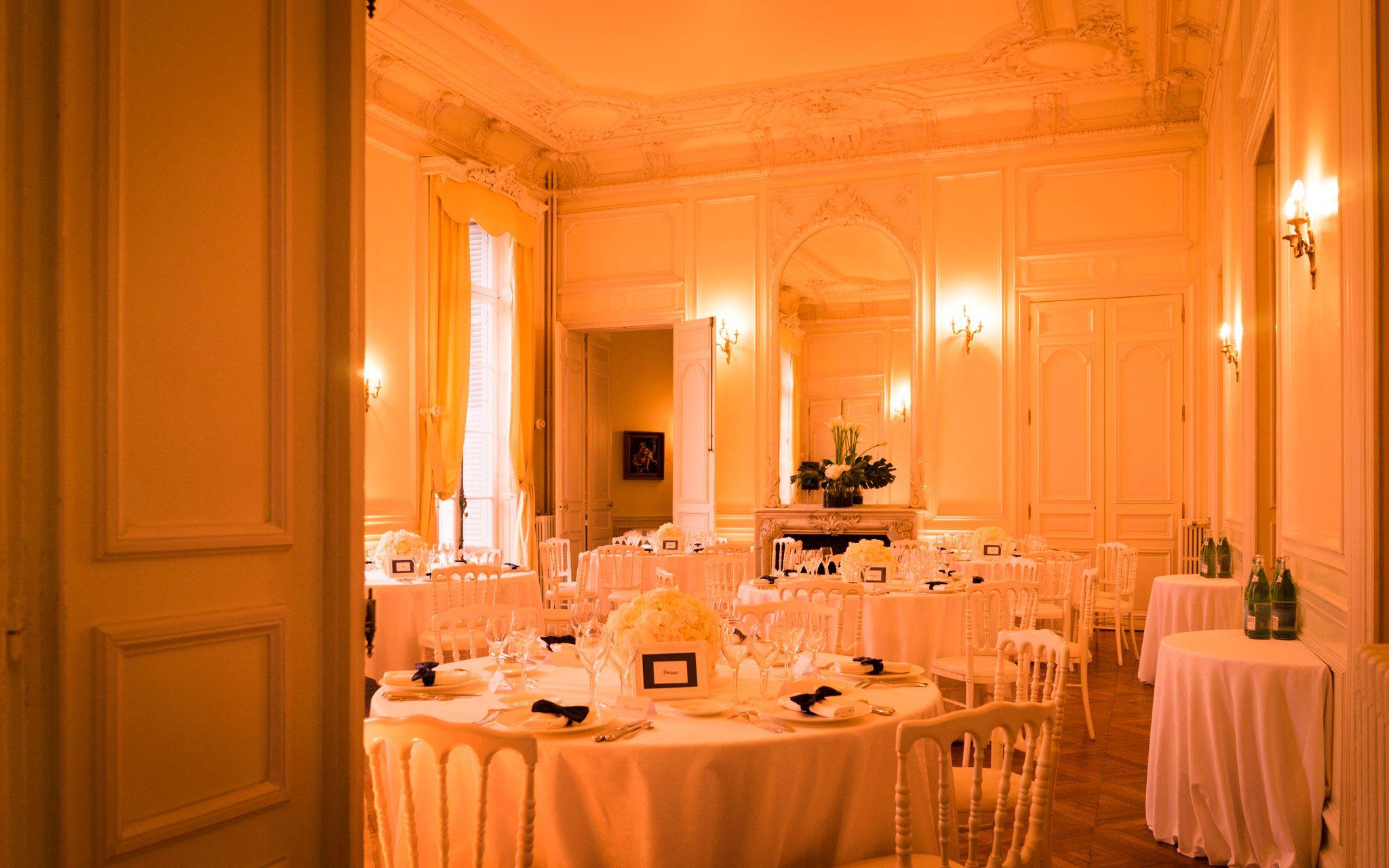 Salle de mariage au Château de Santeny
