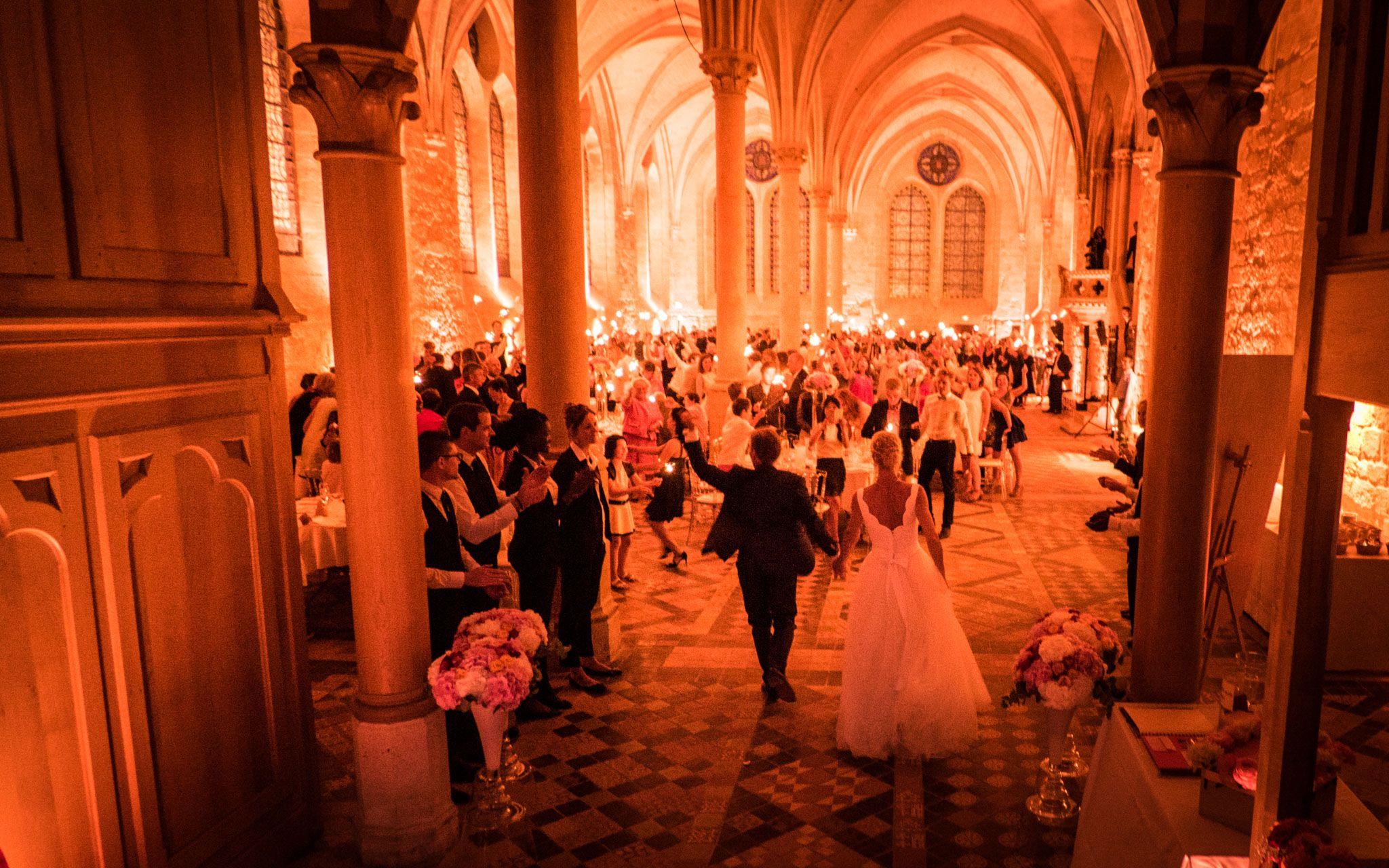 Entrée des mariés à l'Abbaye de Royaumont