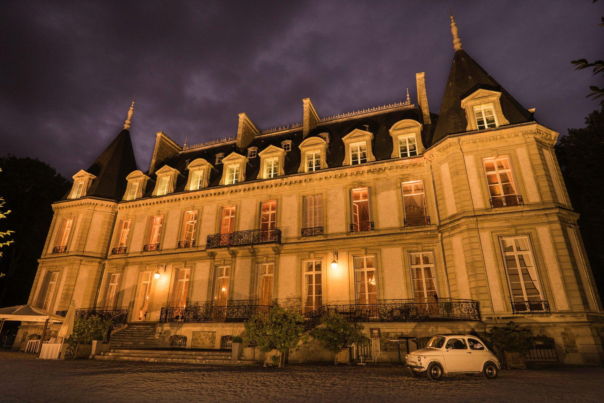 Eclairage façade du Chateau de Santeny
